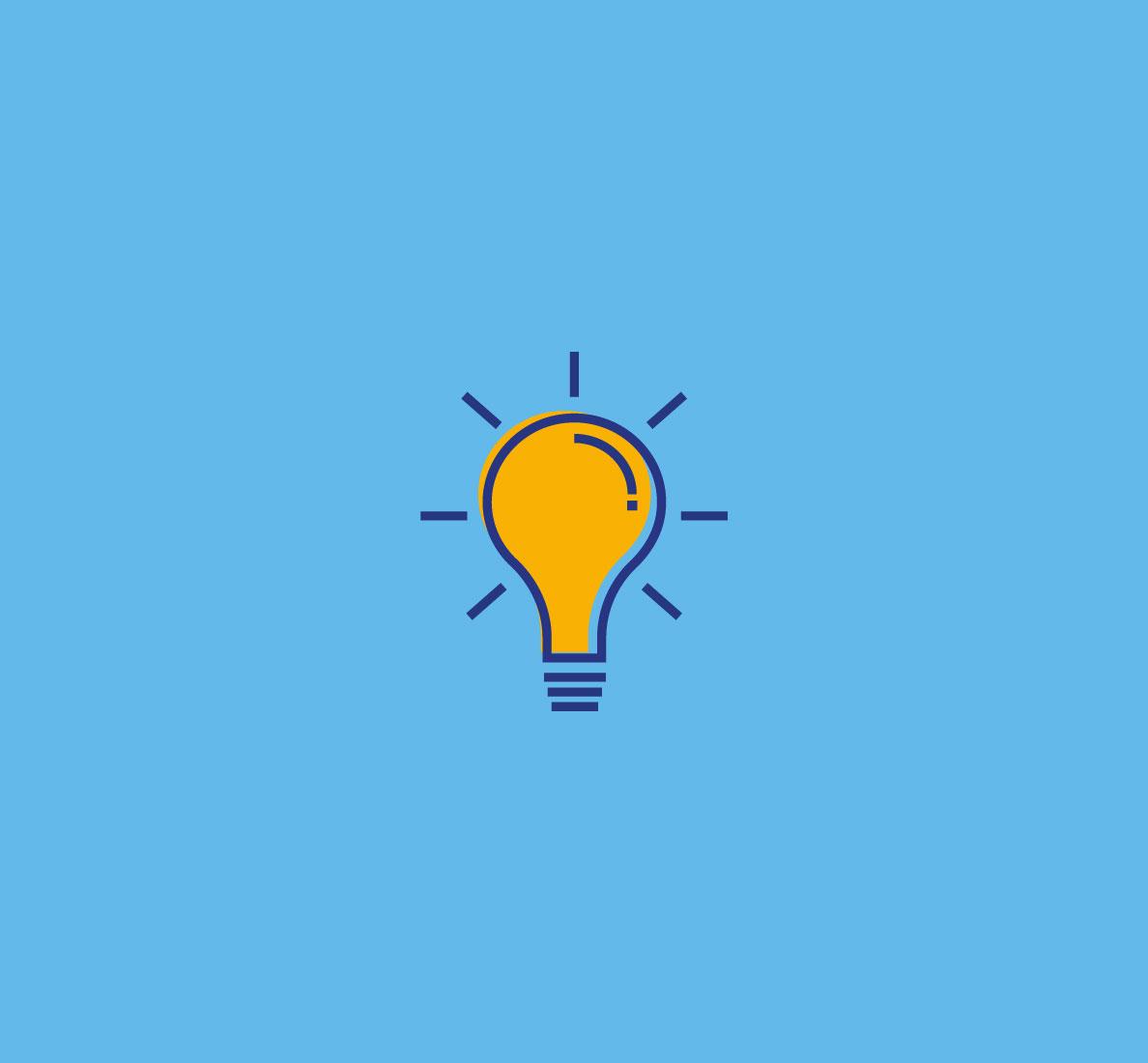 Lightbulb blue