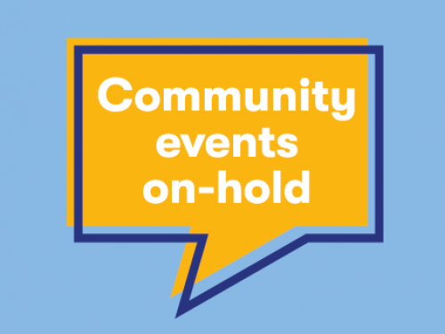 Community Events On Hold
