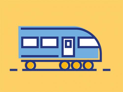 Train yellow BG